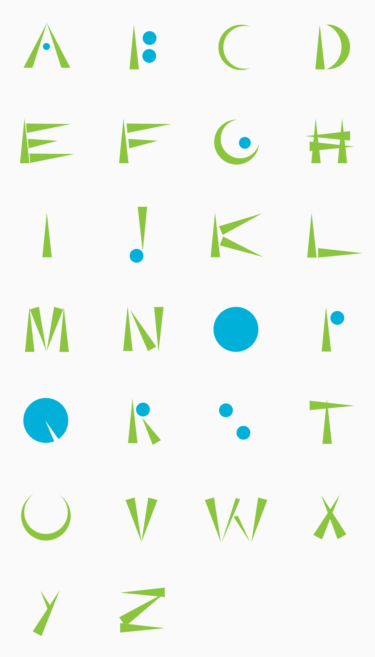 Abstract Font by Sabine Handtke