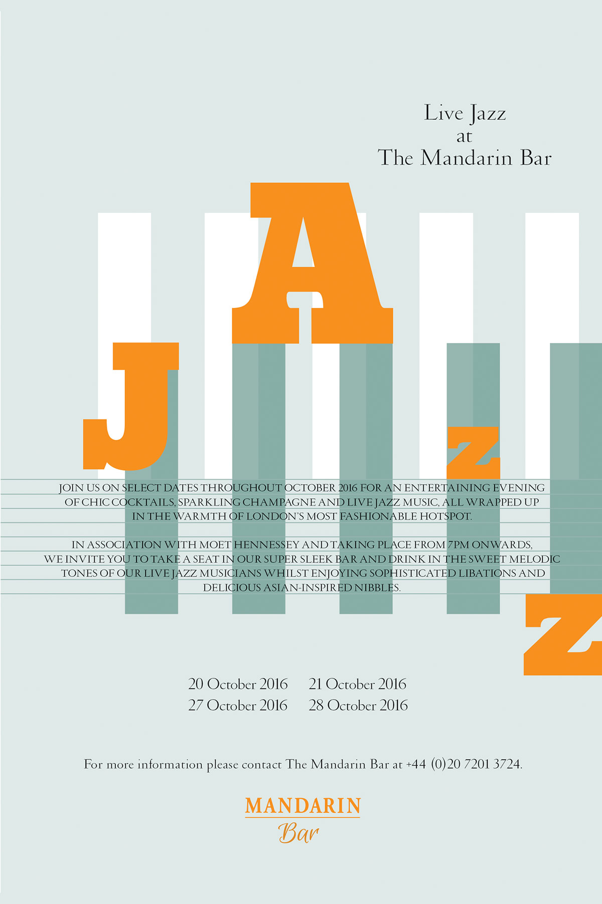 Jazz at The Mandarin Bar by Sabine Handtke