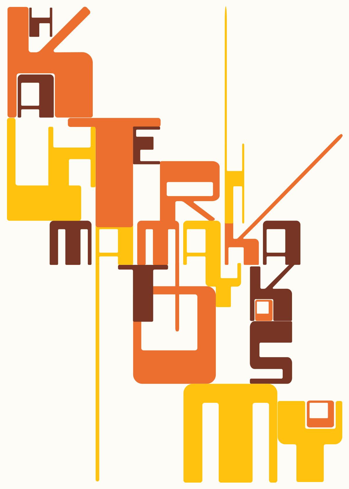 Typographic poster by Sabine Handtke